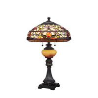 Quoizel Lighting Tiffany 3 Light Table Lamp in Imperial Bronze TF1575TIB