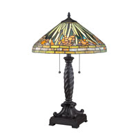 Quoizel Lighting Tiffany 2 Light Table Lamp in Western Bronze TF1599TWT