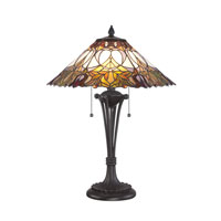 Quoizel Lighting Tiffany 2 Light Table Lamp in Western Bronze TF1601TWT