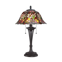 Quoizel Lighting Tiffany 2 Light Table Lamp in Western Bronze TF1603TWT
