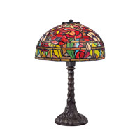 Quoizel Lighting Tiffany 1 Light Table Lamp in Imperial Bronze TF1604TIB