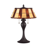 Quoizel Lighting Tiffany 2 Light Table Lamp in Western Bronze TF1605TWT
