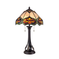 Quoizel Lighting Tiffany 2 Light Table Lamp in Imperial Bronze TF1608TIB