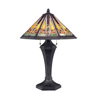 Quoizel Lighting Tiffany 2 Light Table Lamp in Authentic Bronze TF1610T