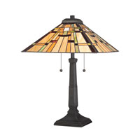Quoizel Lighting Tiffany 2 Light Table Lamp in Vintage Bronze TF1612TVB