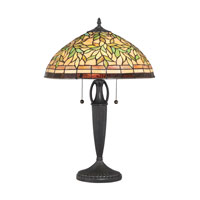 Quoizel Lighting Tiffany 2 Light Table Lamp in Vintage Bronze TF1613TVB