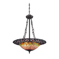 Quoizel Lighting Tiffany 3 Light Pendant in Vintage Bronze TF1617SVB