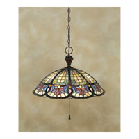 Quoizel TF1618VB Tiffany 3 Light 22 inch Vintage Bronze Pendant Ceiling Light alternative photo thumbnail