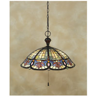 Tiffany 3 Light 22 inch Vintage Bronze Pendant Ceiling Light, Naturals