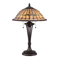 Quoizel Lighting Tiffany 2 Light Table Lamp in Western Bronze TF1667TWT