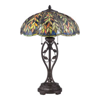 Quoizel Lighting Belle 2 Light Table Lamp in Imperial Bronze TF1668TIB