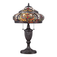 Quoizel Lighting Tiffany 2 Light Table Lamp in Imperial Bronze TF1670TIB