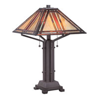 Quoizel Lighting Tiffany 2 Light Table Lamp in Western Bronze TF1672TWT