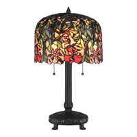 Quoizel Tiffany Red Brier 2 Light Table Lamp in Western Bronze TF1673TWT