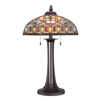 Quoizel Lighting Tiffany 2 Light Table Lamp in Western Bronze TF1695TWT