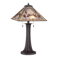 Quoizel Lighting Tiffany 2 Light Table Lamp in Western Bronze TF1697TWT