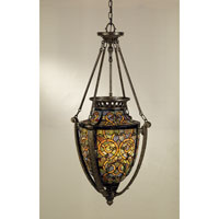 Quoizel Lighting Tiffany 4 Light Pendant in Malaga TF1721ML photo thumbnail