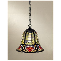 Quoizel TF1737VB Tiffany 1 Light 12 inch Vintage Bronze Mini Pendant Ceiling Light, Naturals