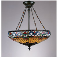 Belle Fleur 4 Light 23 inch Vintage Bronze Pendant Ceiling Light