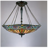 Tiffany 8 Light 40 inch Vintage Bronze Pendant Ceiling Light