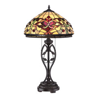Quoizel Tiffany Kings Pointe 2 Light Table Lamp in Imperial Bronze TF1790TIB