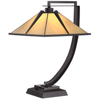 Quoizel TF1791TWT Tiffany 21 inch 75 watt Western Bronze Table Lamp Portable Light, Naturals