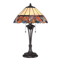 Quoizel Tiffany Sea Shell 2 Light Table Lamp in Western Bronze TF1792TWT