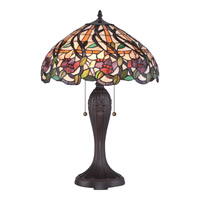 Quoizel Tiffany Wild Vines 2 Light Table Lamp in Bronze TF1794T