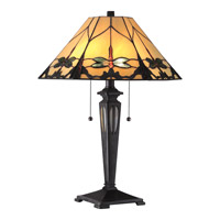 Quoizel Tiffany Summer Dragonfly 2 Light Table Lamp in Imperial Bronze TF1795TIB
