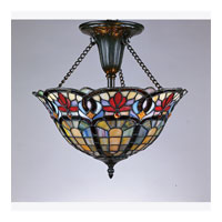 Quoizel Lighting Tiffany 2 Light Semi-Flush Mount in Vintage Bronze TF1796VB