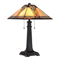Quoizel Tiffany Aberdeen 2 Light Table Lamp in Imperial Bronze TF1798TIB