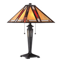 Quoizel Tiffany Arlington 2 Light Table Lamp in Imperial Bronze TF1799TIB