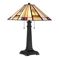 Quoizel Tiffany Willow 2 Light Table Lamp in Imperial Bronze TF1800TIB
