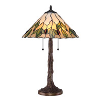 Quoizel Tiffany Campton 2 Light Table Lamp in Bronze TF1801T
