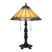 Quoizel Tiffany Spring Hill 2 Light Table Lamp in Imperial Bronze TF1802TIB