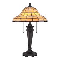Quoizel Tiffany Howell 2 Light Table Lamp in Imperial Bronze TF1803TIB
