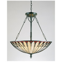 Tiffany 4 Light 22 inch Vintage Bronze Pendant Ceiling Light, Naturals