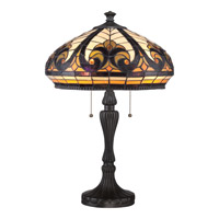 Quoizel Tiffany 2 Light Table Lamp in Vintage Bronze TF1818TVB