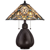Tiffany 20 inch 75 watt Imperial Bronze Table Lamp Portable Light