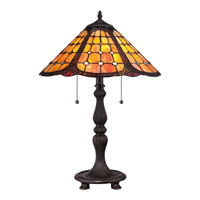 Quoizel Tiffany 2 Light Table Lamp in Imperial Bronze TF1847TIB