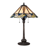 Quoizel Tiffany 2 Light Table Lamp in Imperial Bronze TF1848TIB