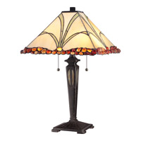 Quoizel Tiffany 2 Light Table Lamp in Imperial Bronze TF1849TIB