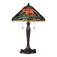 Quoizel Tiffany 2 Light Table Lamp in Imperial Bronze TF1850TIB