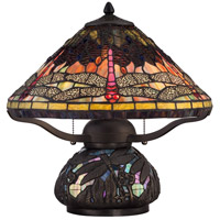 Quoizel Tiffany 2 Light Table Lamp in Imperial Bronze TF1851TIB