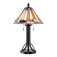 Quoizel Tiffany 2 Light Table Lamp in Imperial Bronze TF1865TIB