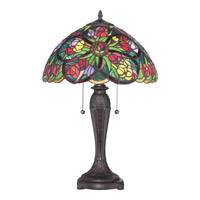 Tiffany 25 inch 75 watt Table Lamp Portable Light