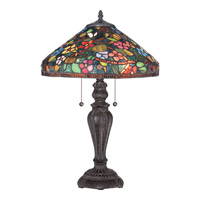 Quoizel Tiffany 2 Light Table Lamp in Imperial Bronze TF1869TIB