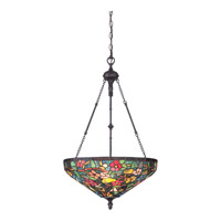 Tiffany 4 Light 20 inch Imperial Bronze Pendant Ceiling Light