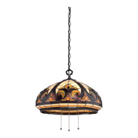 Quoizel Tiffany 3 Light Pendant in Vintage Bronze TF1881VB