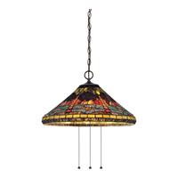Quoizel Tiffany 3 Light Pendant in Imperial Bronze TF1882IB